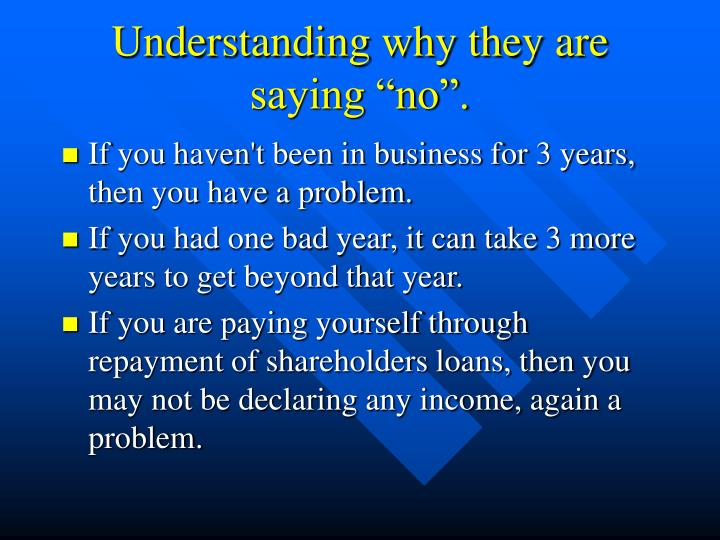 """Understanding why they are saying """"no""""."""