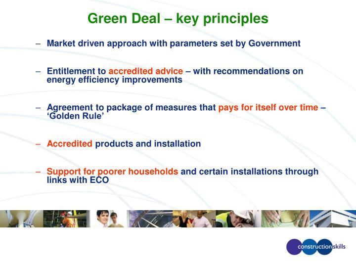 Green Deal – key principles