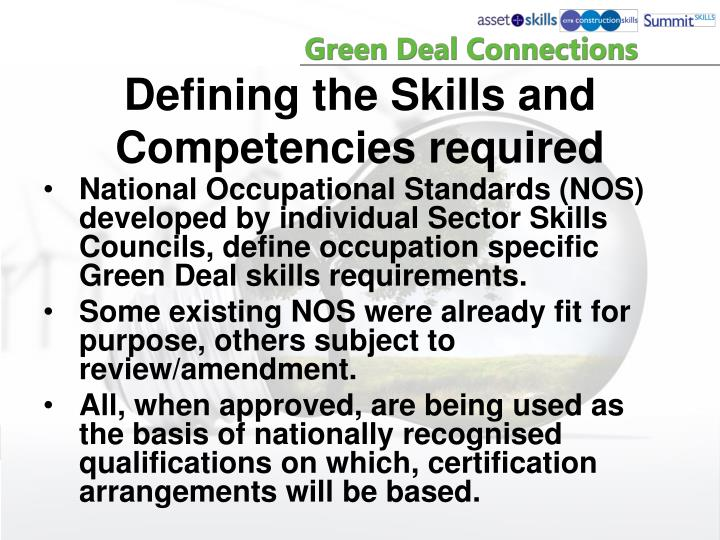 Defining the Skills and Competencies required