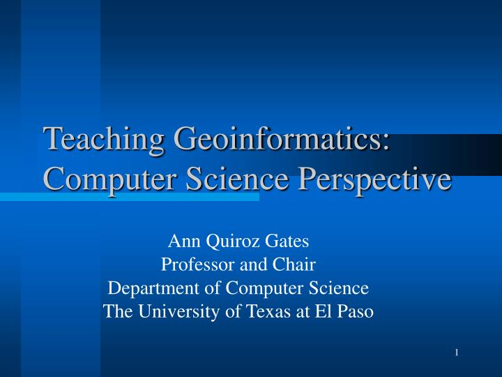 teaching geoinformatics computer science perspective n.
