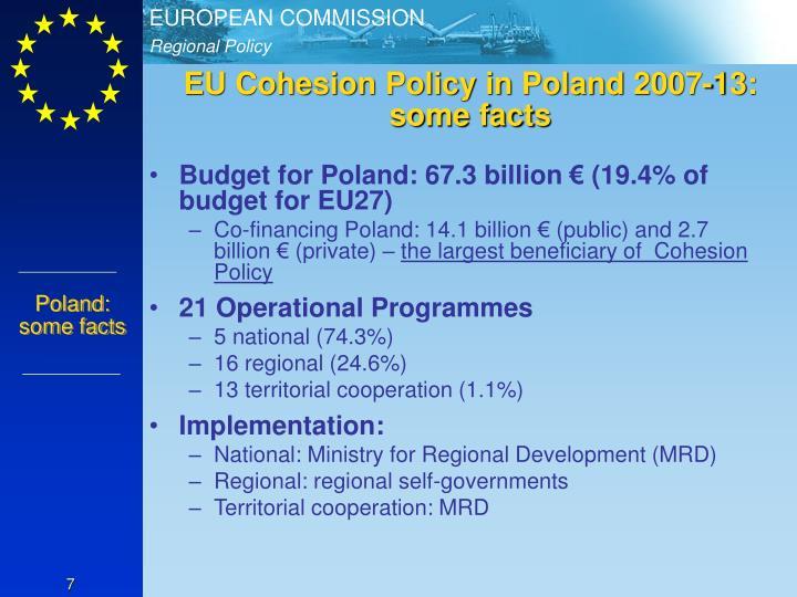 EU Cohesion Policy in Poland 2007-13: