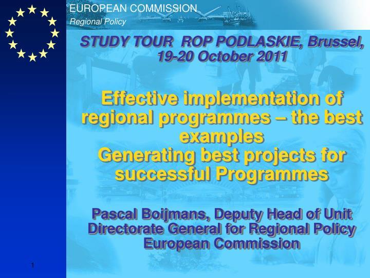 STUDY TOUR  ROP PODLASKIE, Brussel, 19-20 October 2011