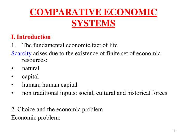 comparative economic systems n.