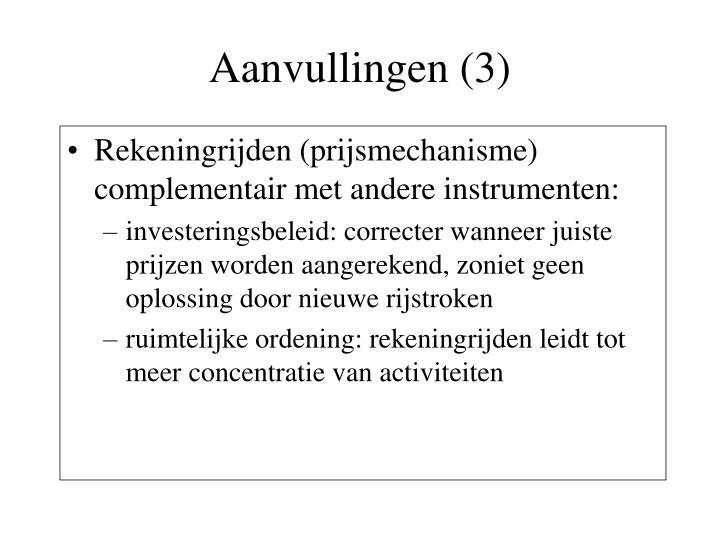 Aanvullingen (3)
