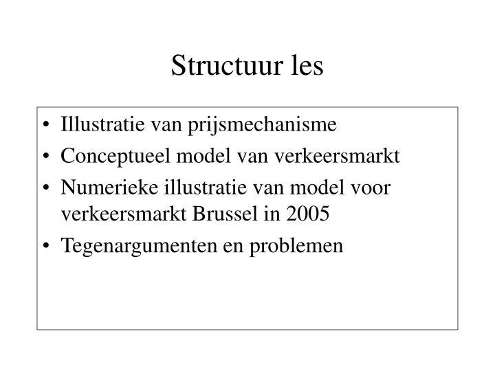 Structuur les