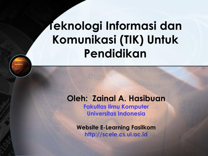 teknologi informasi dan komunikasi tik untuk pendidikan n.