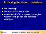 achieving the vision metadata