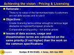 achieving the vision pricing licensing