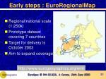 early steps euroregionalmap