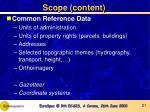 scope content