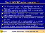 the 12 inspire policy principles 1
