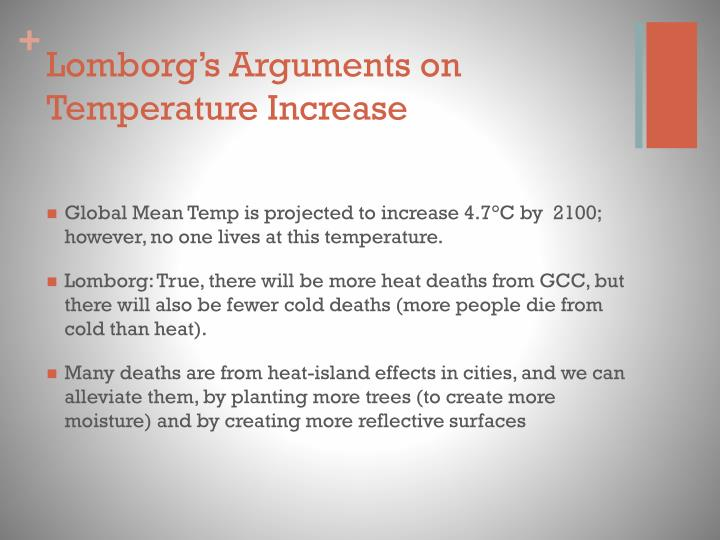 Lomborg s arguments on temperature increase