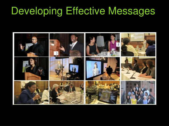 Developing Effective Messages