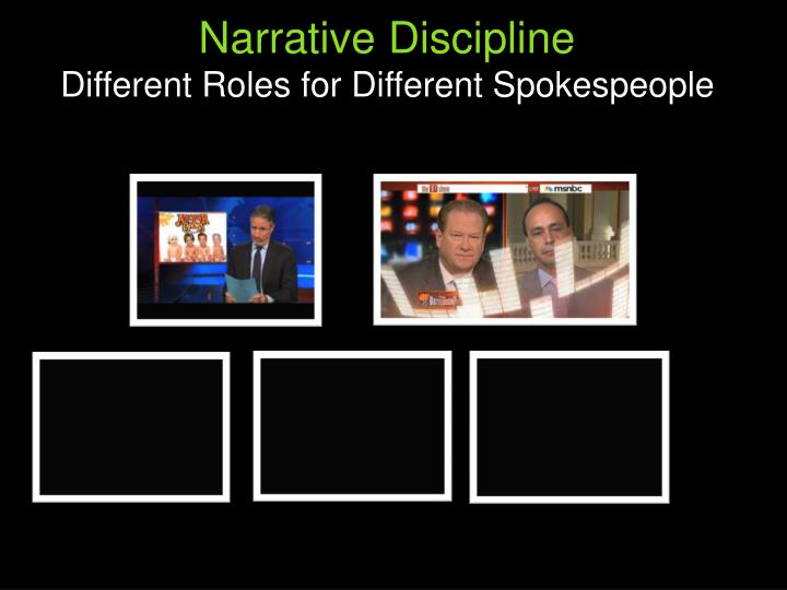 Narrative Discipline