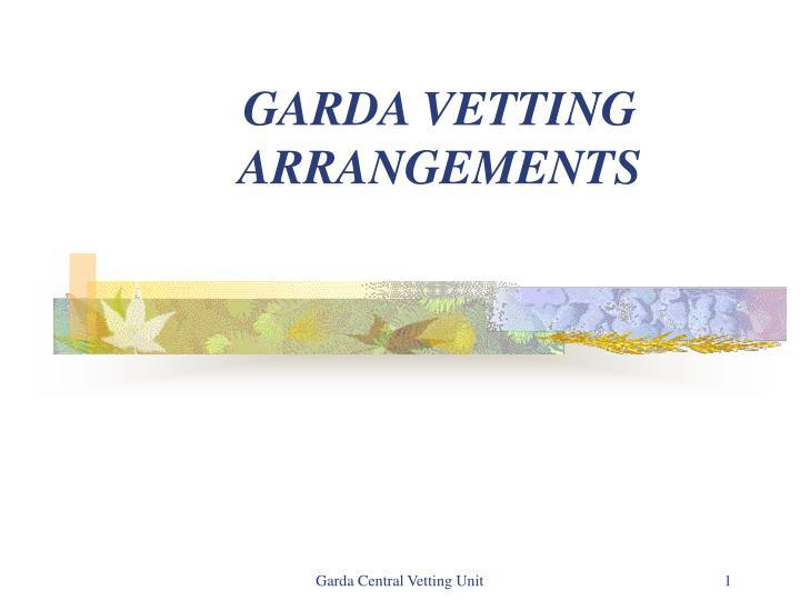 garda vetting arrangements