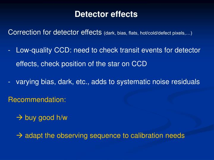 Detector effects