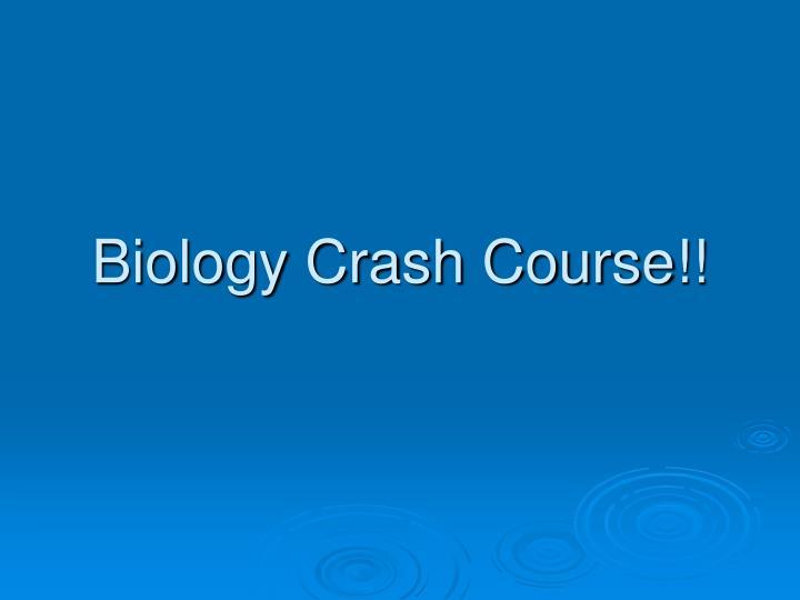 biology crash course n.