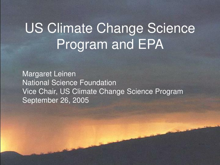us climate change science program and epa n.
