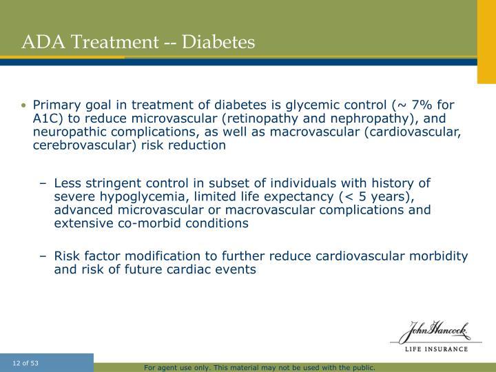 ADA Treatment -- Diabetes