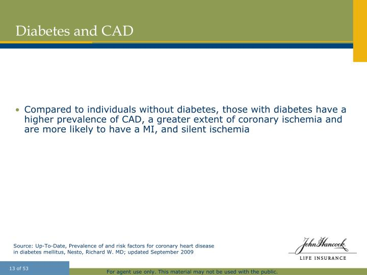 Diabetes and CAD