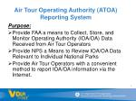 air tour operating authority atoa reporting system1