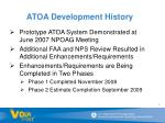 atoa development history
