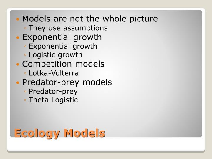 Ecology models
