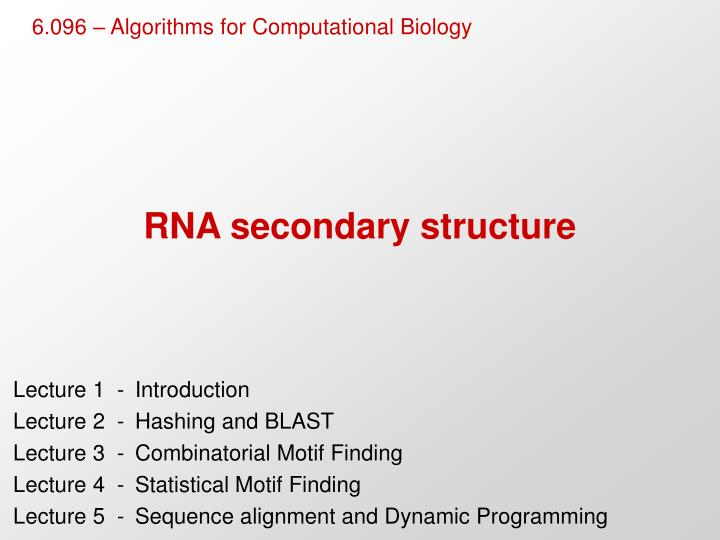rna secondary structure n.