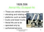 1926 556 aerial lifts subpart n