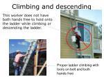 climbing and descending
