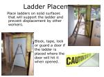 ladder placement