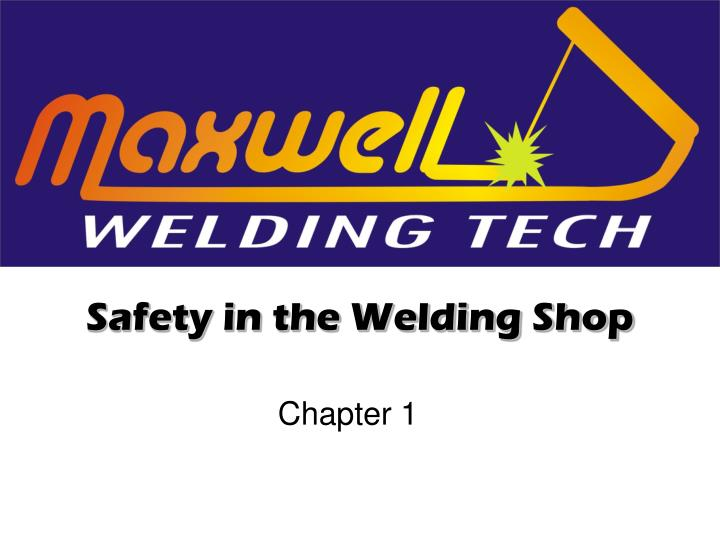 safety in the welding shop n.