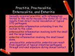 proctitis proctocolitis enterocolitis and enteritis