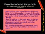 ulcerative lesions of the genitalia donovanosis carcinoma and other nonvenereal dermatoses