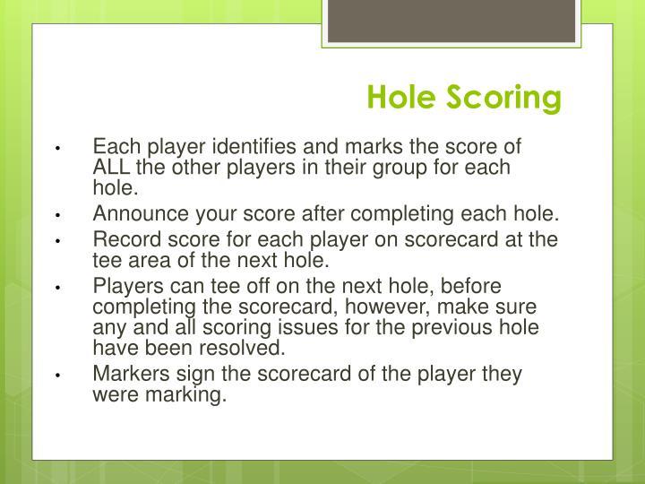 Hole Scoring