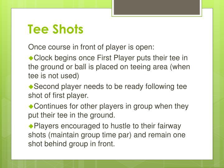 Tee Shots