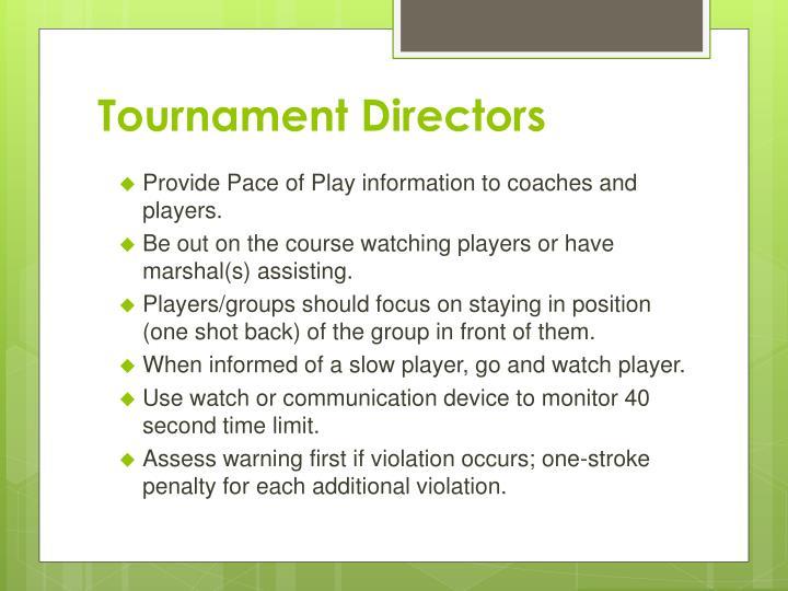 Tournament Directors