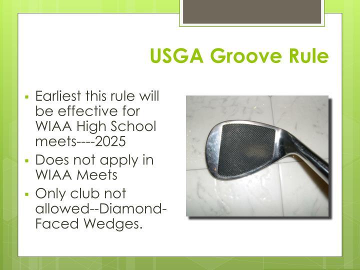 USGA Groove Rule