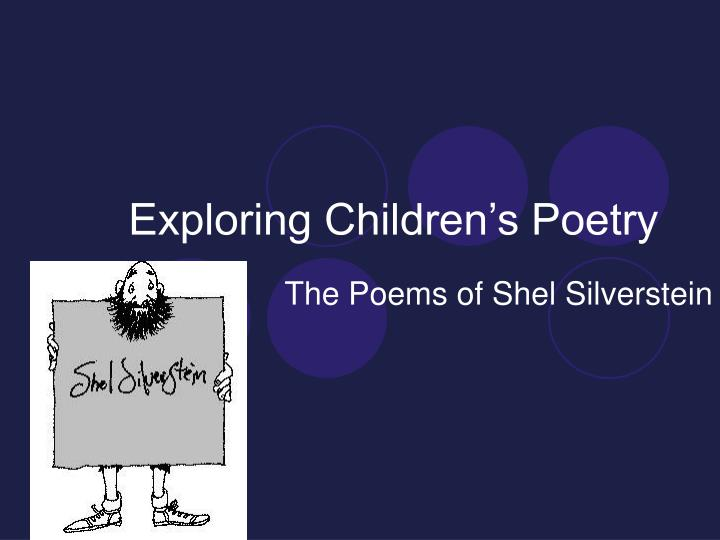 exploring children s poetry n.