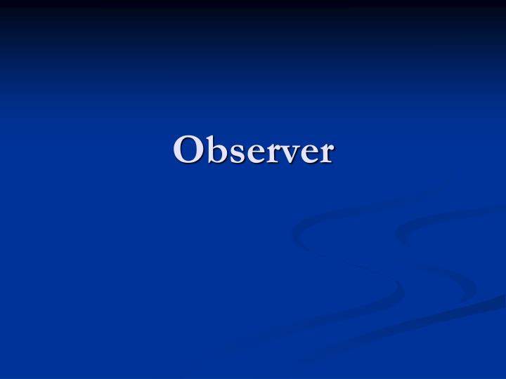 observer n.