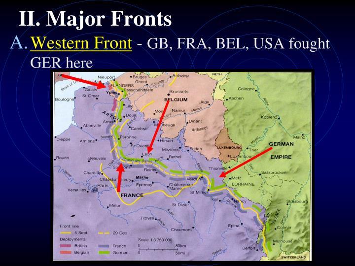 Ii major fronts