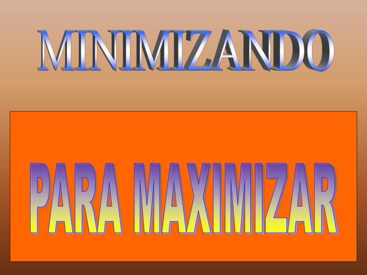 MINIMIZANDO