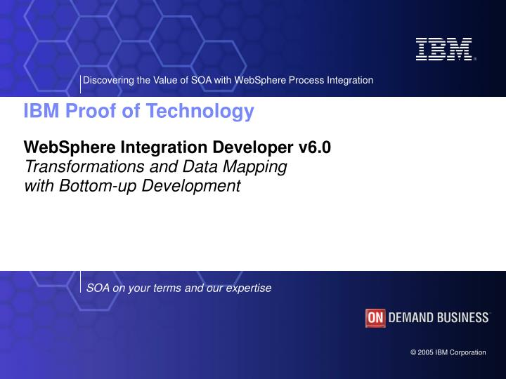 Websphere integration developer v6 0 transformations and data mapping with bottom up development