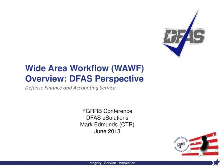 wide area workflow wawf overview dfas perspective n.
