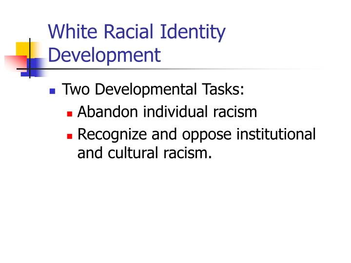 racial cultural identity development How their parents contributed to their racial identity development how racism  influenced  concepts of culture, race, ethnicity, and identity overlap and.
