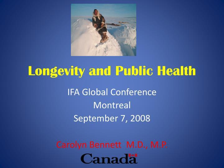 longevity and public health n.