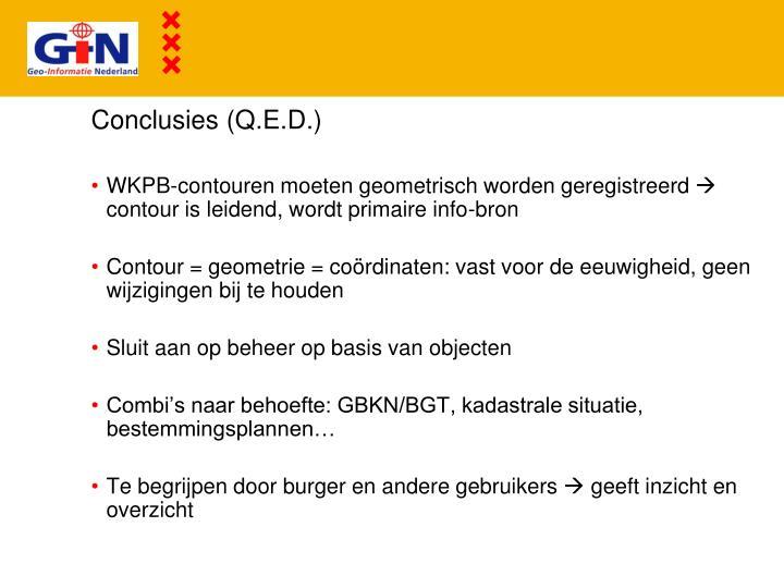 Conclusies (Q.E.D.)