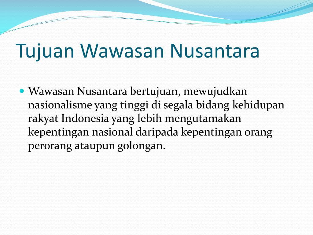 PPT - WAWASAN NUSANTARA PowerPoint Presentation - ID:3600250