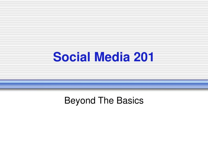 social media 201 n.