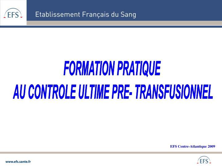 FORMATION PRATIQUE
